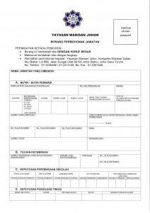 Borang Permohonan Jawatan Yayasan Warisan Johor